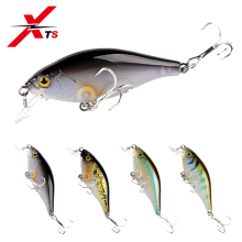 Купить с кэшбэком XTS Fishing Lure Hard Sinking Minnow Wobblers 55mm 6.5g ABS Plastic Bait 4 Colors Long Casting Fishing Swimbait Jerkbait 7501