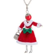 цена на Lovely Doll Pendants Necklaces For Women Chic Long Chain 4 Style Figure Doll Necklaces Fashion Christmas Jewelry Clothing Party