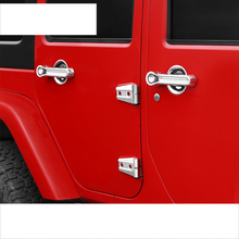 цена на lsrtw2017 silver abs car external car styling door handle trims decoration for jeep wrangler 2007-2017 2016 2015 2014 2013 2012