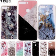 5.99'' For Huawei Honor 7C Pro Case Silicone Granite Marble Soft TPU Cover For Huawei Honor 7C Pro Case 7 C Pro 7CProLND-L29