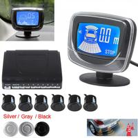 Waterproof Dual CPU System Rear View Car Parking Sensors Parktronic Display Reverse Backup Radar Monitor System with 6 Sensors