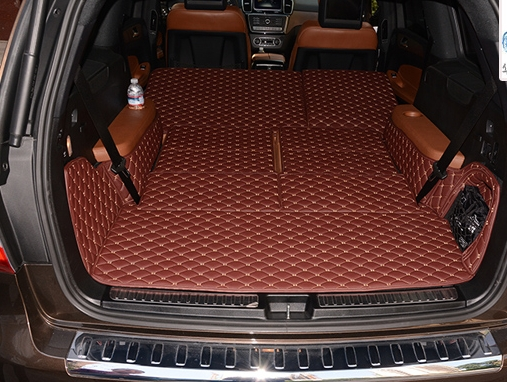 Newly! Full set trunk mats for Mercedes Benz GL 500 550 X166 7seats 2015-2013 durable cargo liner mat boot carpets,Free shipping image