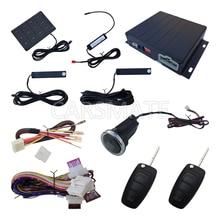 In Stock PKE Car Alarm System Remote Start Engine With Long Push Button & Password Keypad Auto Lock Unlock Door Auto Arm Disarm