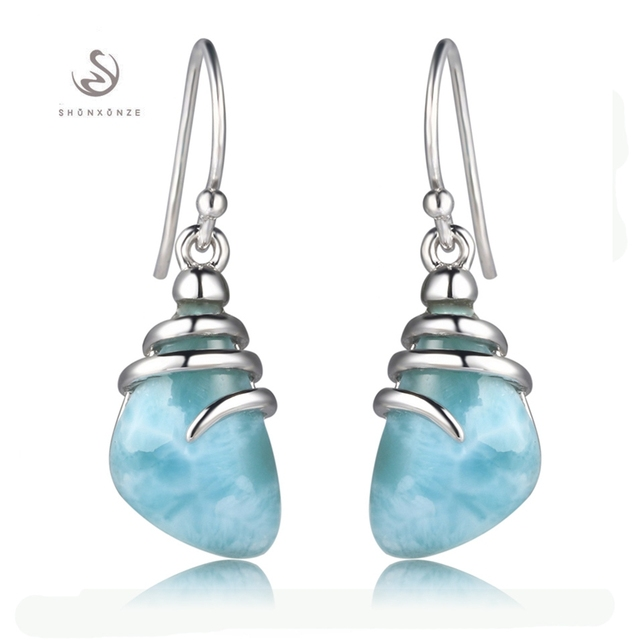 Eulonvan 925 Sterling Silver Larimar Earrings Christmas Gifts For Women Jewelry Accessories Explosion Models Aliexpress