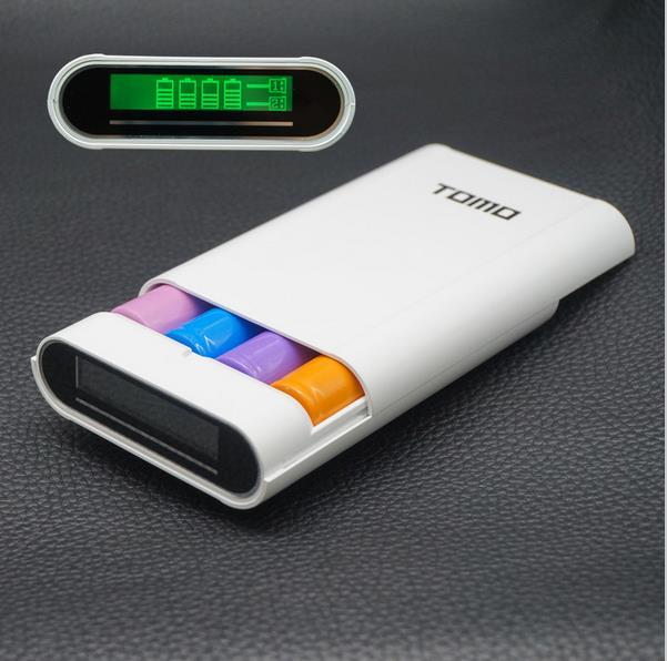 imágenes para TOMO multifunción caso de salida 2A 18650 cargador banco de potencia 18650 batería DIY pantalla de alta capacidad powerbank para pad teléfono móvil