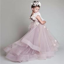 Великолепные розовые блестящие пышные платья для мамы и дочки, Платья с цветочным узором для девочек на свадьбу, детское вечернее платье на заказ