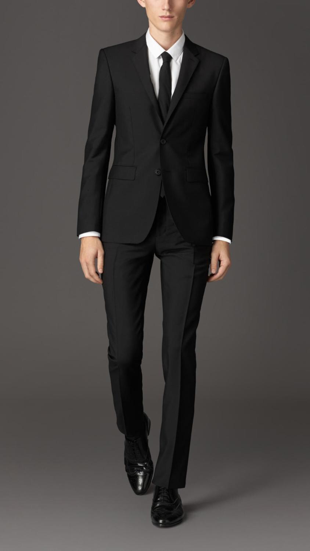 2019 hommes smoking slim fit personnalisé costume hommes noir haute qualité costume d'affaires