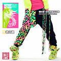 Fashion Brand Kids Adult Sweatpants Tassel Costumes neon color patchwork harem female trousers Harem Hip Hop Dance Pants