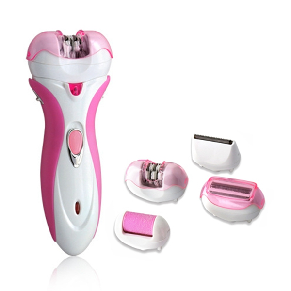 Kemei KM-2531 4 in 1 Multi-functional Epilator Rechargeable Electric Shaver Hair Trimmer Defeatherer mill foot Device