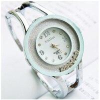 Elegant Woman Fashion Bracelet Watches Bling Rhinestones Quartz Watches Wristwatches relojes mujer Bangle Watch for Woman LS-013