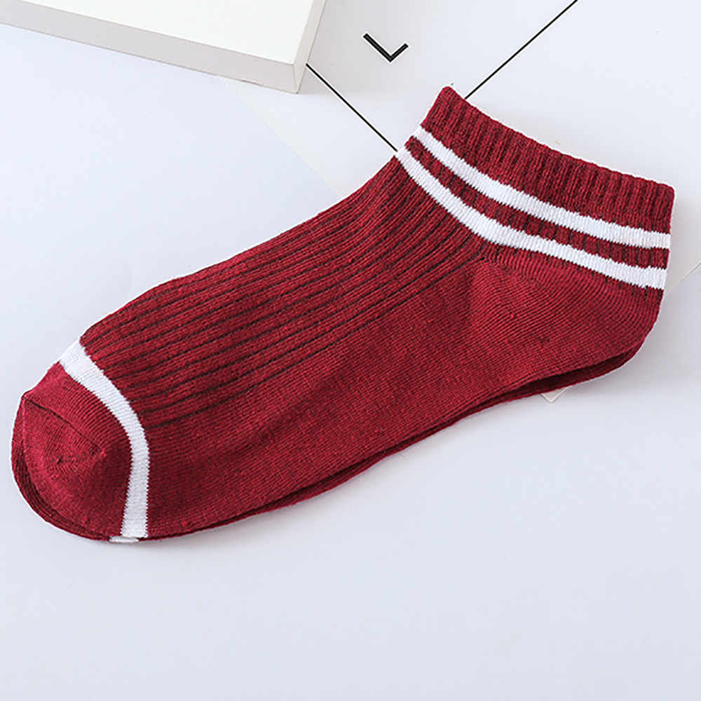 Unisex Streep Comfortabele Leuke College Wind Eenvoudige Basic Verse Hot selling Katoen Sok Slippers Korte Sokjes DropShip F3
