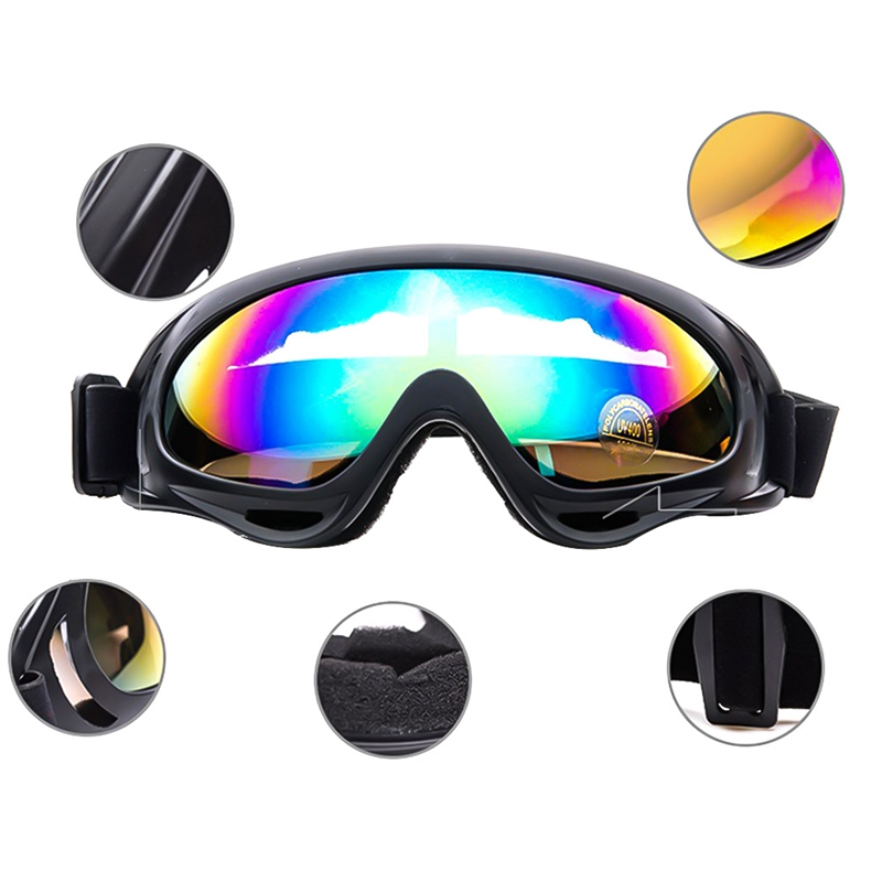 Outdoor Sports Motorcycle Protective Glasses Windproof Dustproof Eye Glasses Ski Snowboard Goggles Motocross Riot Control