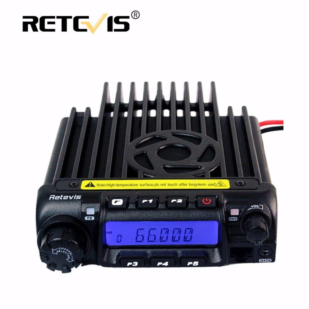 Retevis RT-9000D Mobile Voiture Radio Émetteur-Récepteur VHF 66-88 mhz (ou UHF) 60 w 200CH Scrambler Talkie Walkie + Haut-Parleur MIC + Programme Câble
