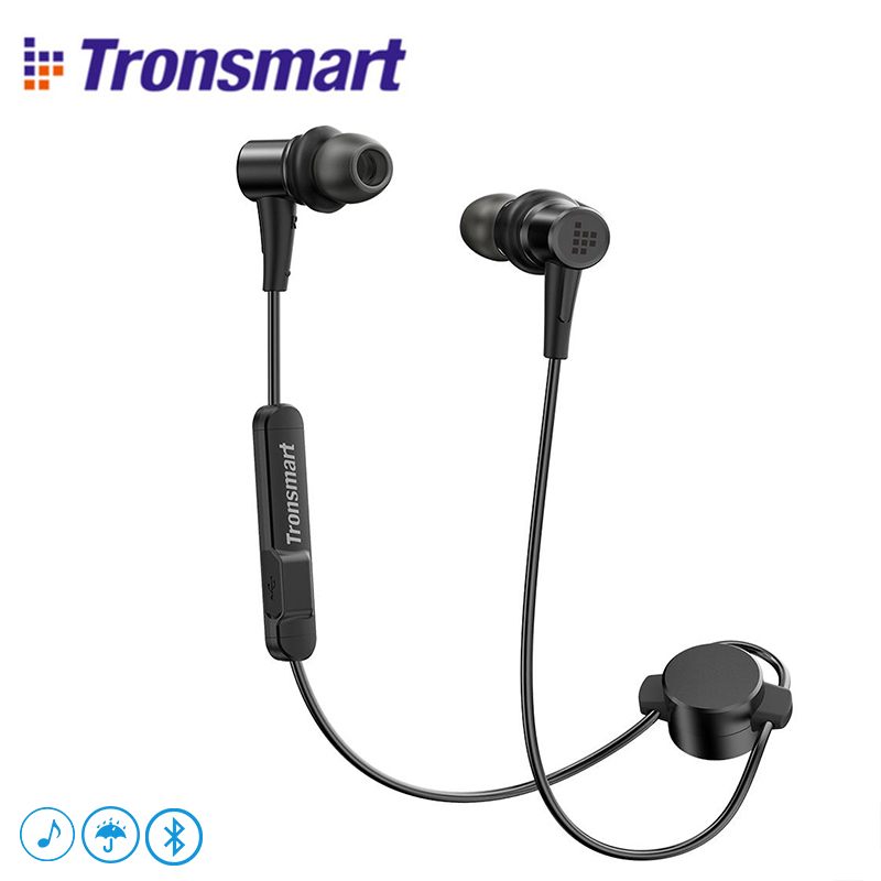 Tronsmart Encore Flair IP56 Water Resistant Headphones with Bluetooth 4.1&Microphone for iOS & Android devices