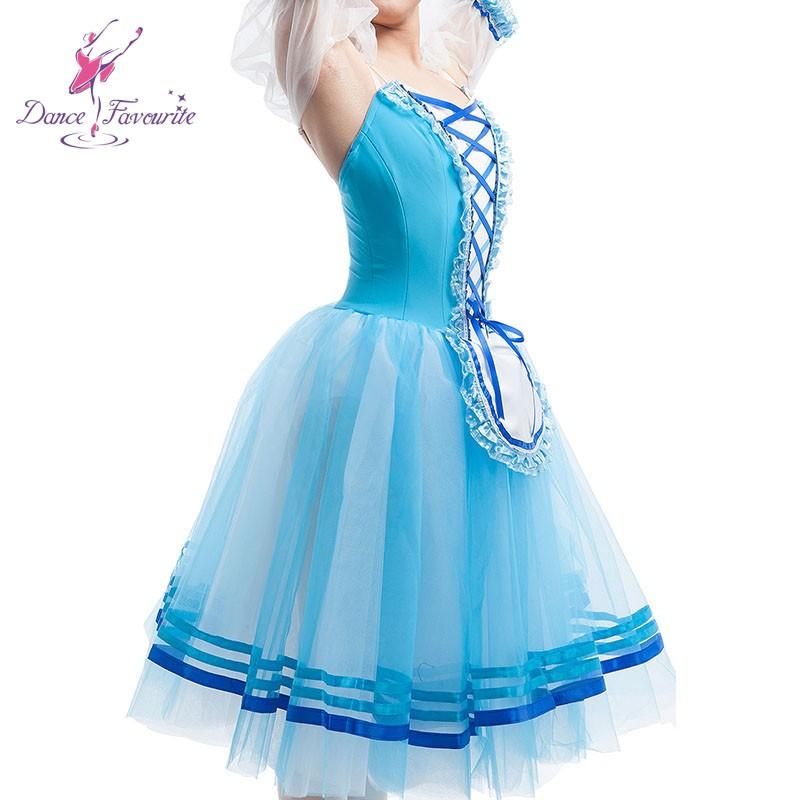 бледно-синий жизель романтическая базовая пачка женщины этап производительность балета танца костюм туту