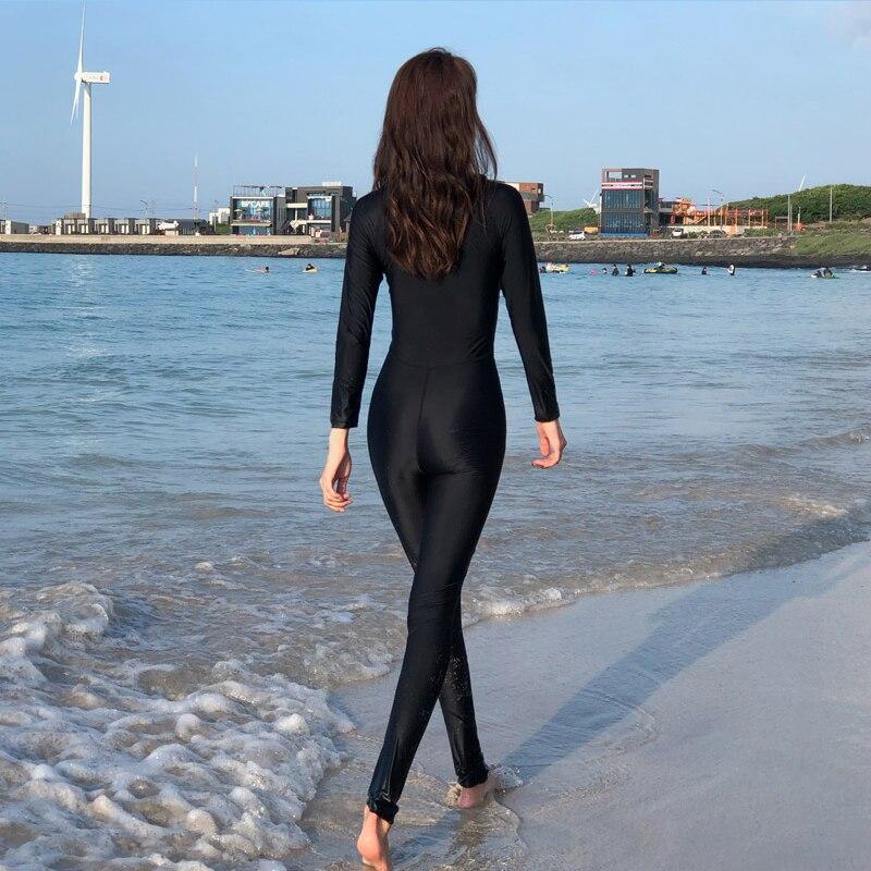 2019 Nouveau Style Femmes de corps entier Sous-Marine Surf Plongée Combinaisons d'une Seule pièce Salopette Snorkeling Retour Zip combinaison isothermique 81109 - 2