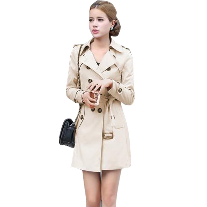 Noir Jt77 Slim Belle Mètres Coupe Européenne vent Mode Casaco Veste Abrigos Occasionnel kaki Solide Femelle Automne Feminino Chaquetas Y xHrHYqT01a