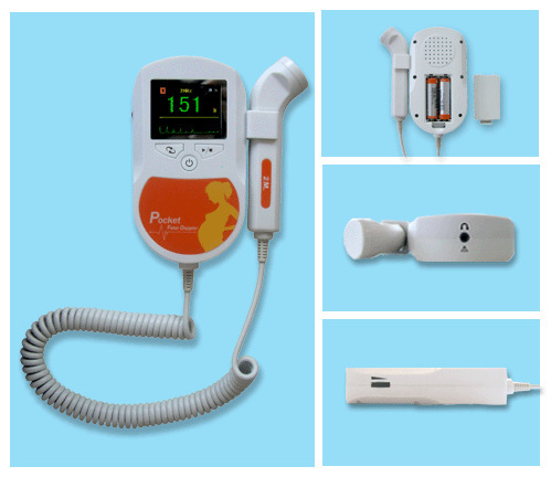 все цены на Free Shipping 3MHz Orange Sonoline-C Portable Home Use Fetal Doppler With Free Gel