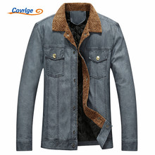 Covrlge Leather Jacket Men Plus Size Men's Faux Leather Jacket Fashion Turn-down Male PU Jackets Coats Motorcycle Jackets MWP011