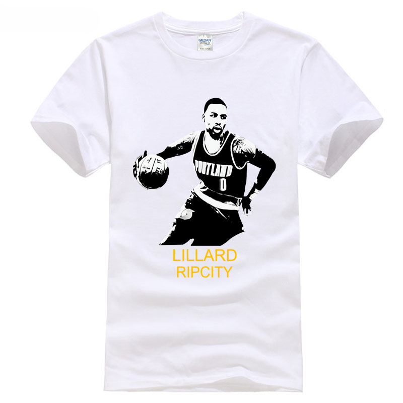 lillard 0 Portland basketballer 2018 mvp all the star t shirt jerney sportsing 100% Cotton Fashion T-Shirts ...