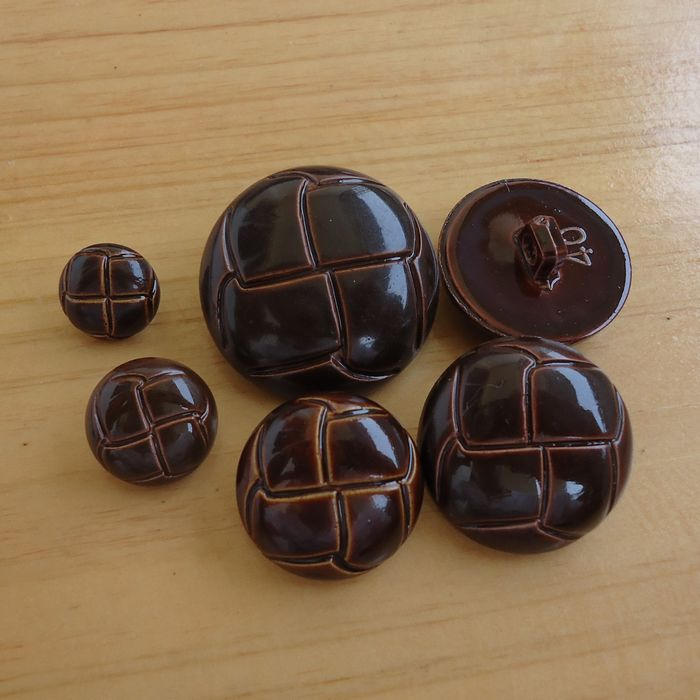 Wholesale 500 pcs Plastic Faux leather button Sewing  Button for Garment Accessories Buttons Painting Black , Brown