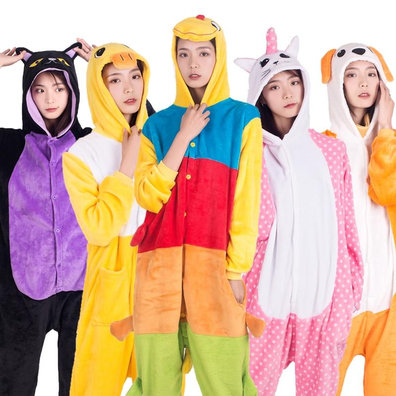 26 NEW Women Animal Unicorn Cat Pegasus   Pajamas     Set   Autumn Winter Hooded Pyjamas Onesies Adult Men Women Sleepwear Christmas
