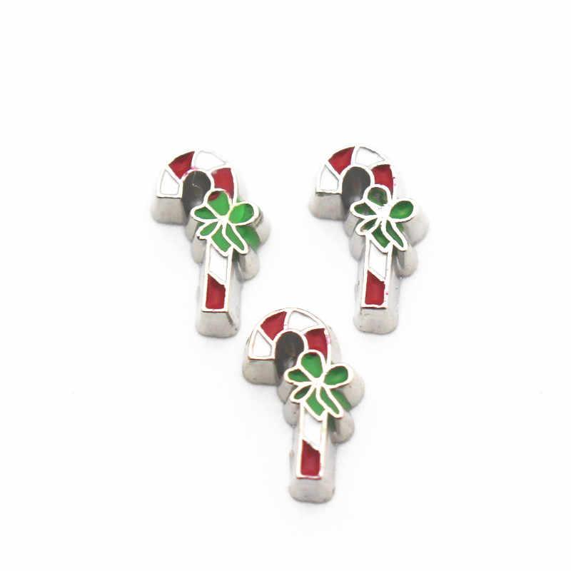 Новое поступление 10 шт./лот рождественские леденцы, палочки плавающие прелести жизни стекло памяти медальоны diy аксессуары с животными подвески ювелирные изделия