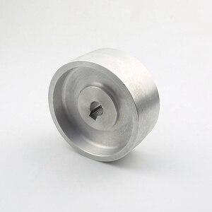 Image 3 - 130*55*19/24mm Voll Aluminium Kontaktieren Rad Aktive rad für gürtel maschine mit Nut