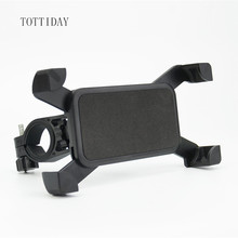 Tottiday Bicycle motorcycle Handlebar Phone Holder Clip Stand Mount Bracket for iPhone Samsung xiaomi huawei smart mobile phone