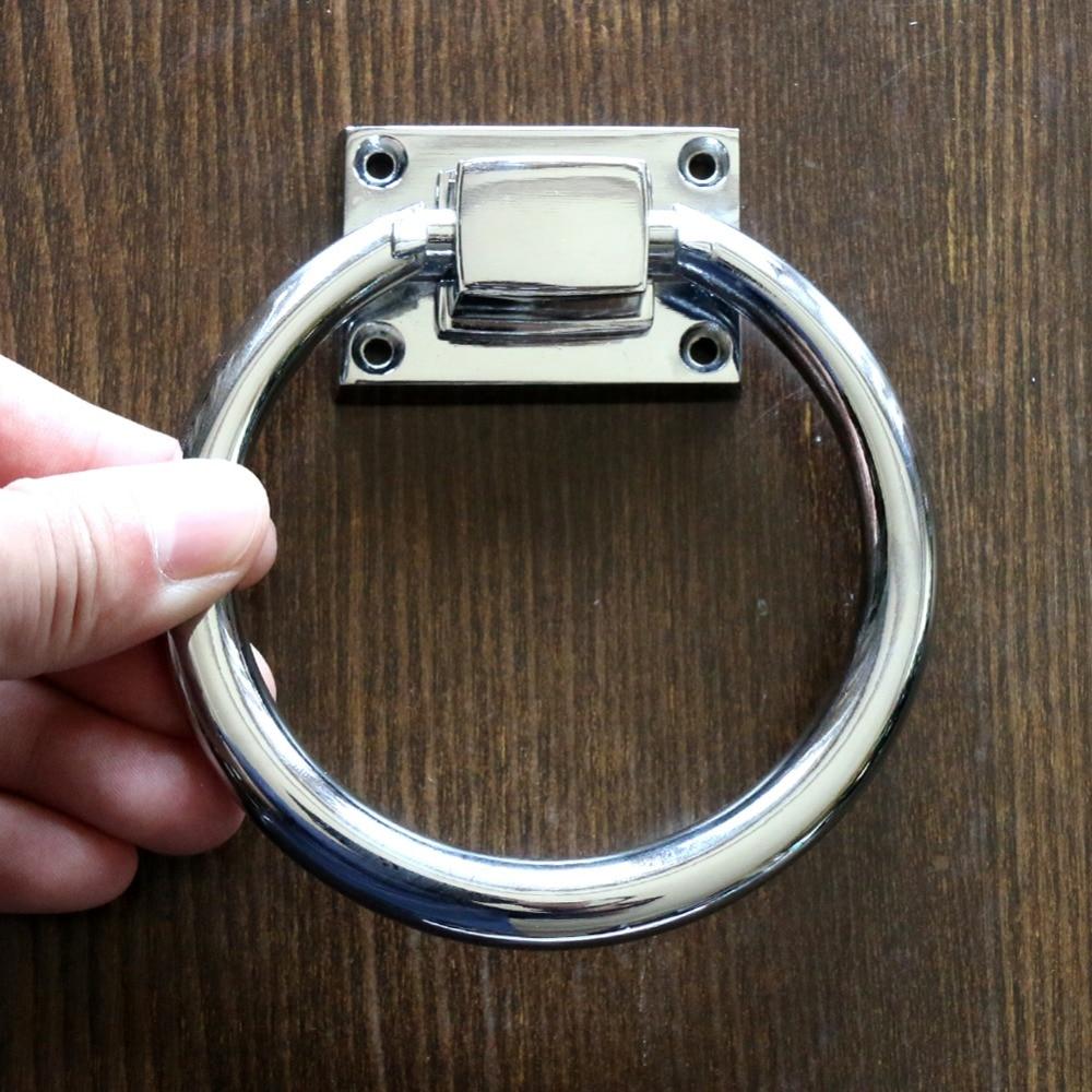 Dia 98mm Large Polished Chrome Ring Pulls Kitchen Bath