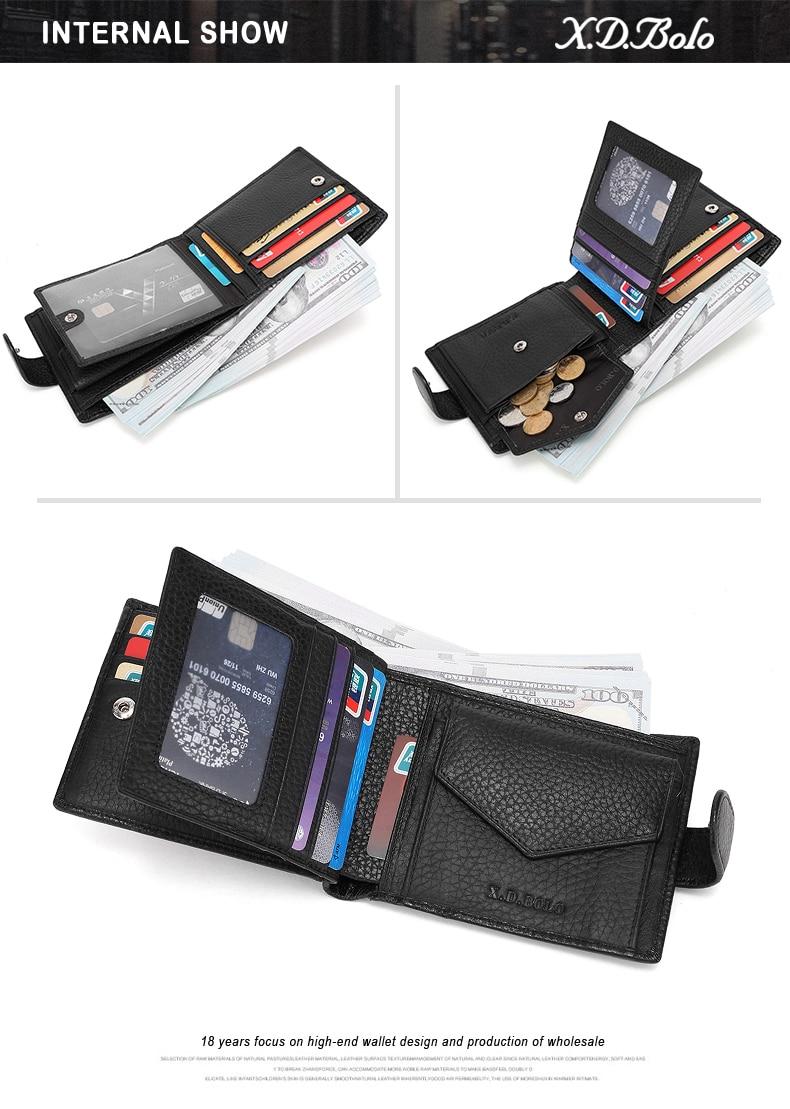 Мужской кожаный кошелек xdbolo 2020 мужские кошельки бумажник