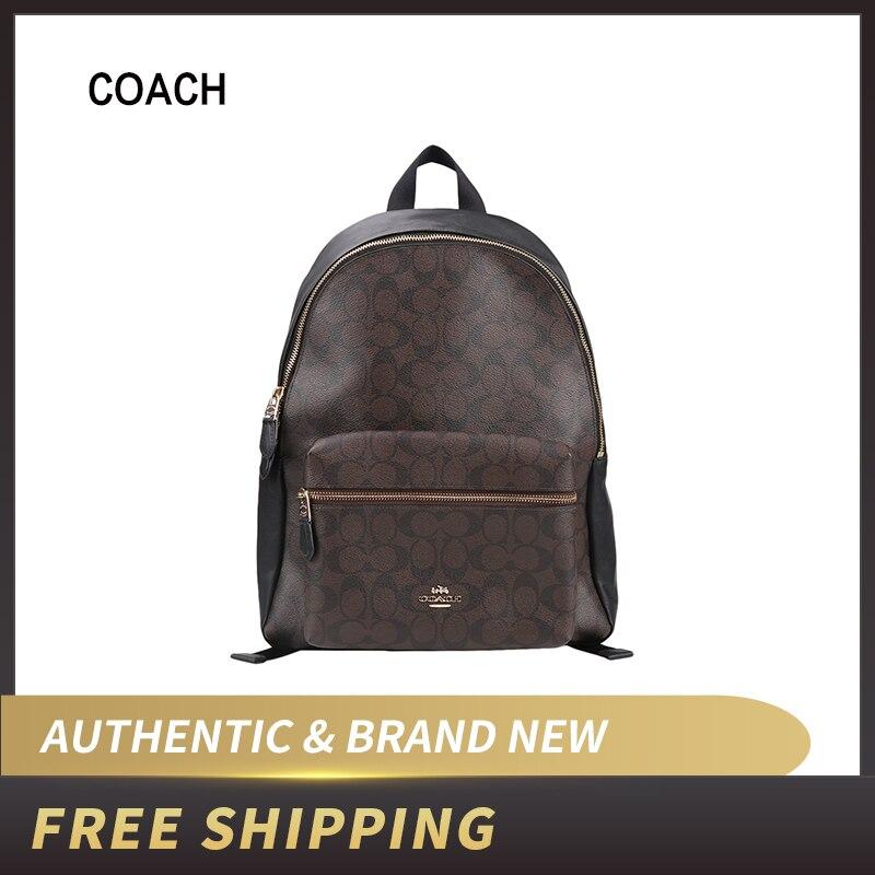 Coach Charlie PVC Backpack Double Shoulder Bag F58314