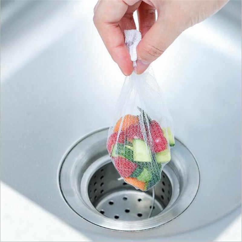 30 ADET Izolasyon Tıkanma Önlemek Mutfak Banyo Duş Drenaj Kalıntı Toplayıcı lavabo süzgeci Filtre Net Çanta Tek Kullanımlık