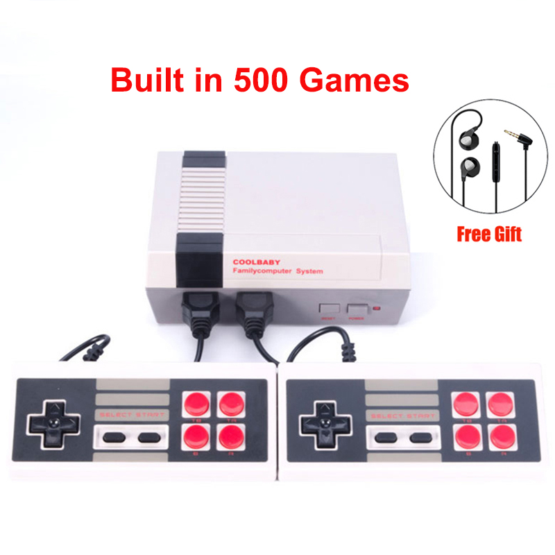 New Retro Childhood Mini TV Handheld Video Game Console Upgrated For Nes Games Built-in 500 Different Game PAL+NTSC dual gamepad 4 styles hdmi av pal ntsc mini console video tv handheld game player video game console to tv with 620 500 games