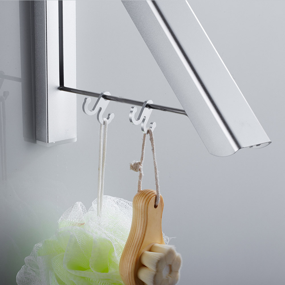 Space Aluminum Triangle Shape Towel Rack Foldable Kithchen Storage Holder Wall Mounted Hanger Bathroom Accessories
