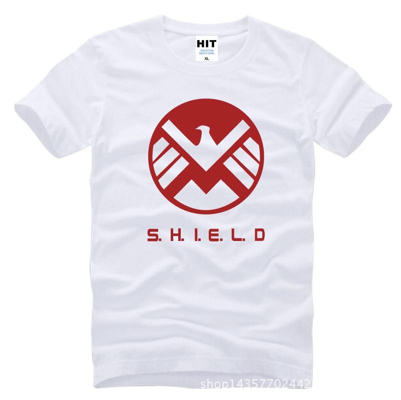 Agentes de proteccion. SHIELD Eagle Impreso Hombres Hombres Camiseta - Ropa de hombre