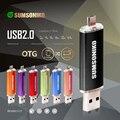 Unidade Flash USB de Alta Velocidade USB 2.0 OTG Telefone SUMSONIKO Caneta Drive Moda 10 Cores Memory Stick USB oferta Especial Frete Grátis