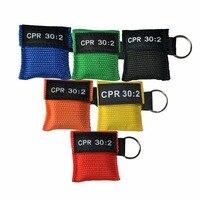 150 шт./упак. CPR маска для защиты лица CPR 30: 2 аварийный портативный брелок для ключей с односторонним клапаном оказание первой помощи комплект