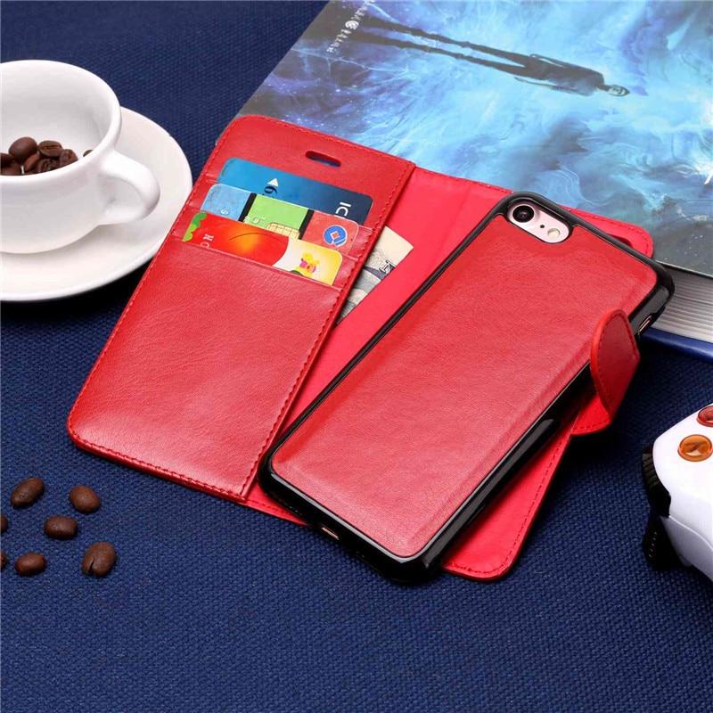 Yinghui Красочные 2 в 1 Съемная кошелек магнитные кожаный чехол для телефона Мягкие TPU Защитная крышка кожи для Apple iPhone 7 8 Fundas