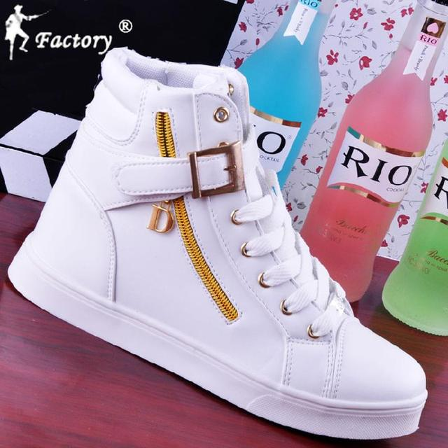 Fashion Unisex Hip-hop Woman Boots High Tops White Black Shoes Soft Leather  Casual Sport Women Boot Side Zipper Men Shoes 3e1a00d40ad
