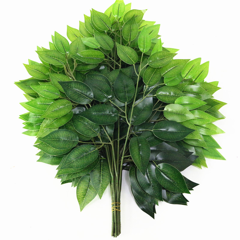 80pcs lot artificial flower wedding leaves home decoration simulated leaves for wedding party holiday 4 colors