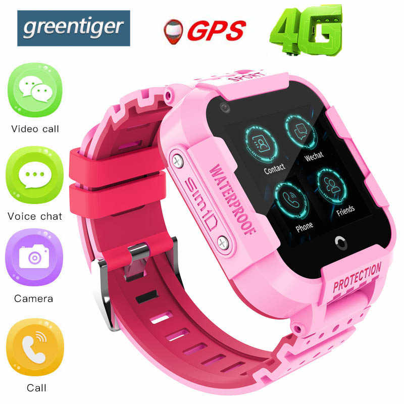 Greentiger DF39 4G Smart Watch Kids Video Call Camera GPS LBS WIFI Location IP67 Waterproof Smartwatch Baby SOS safe alarm clock
