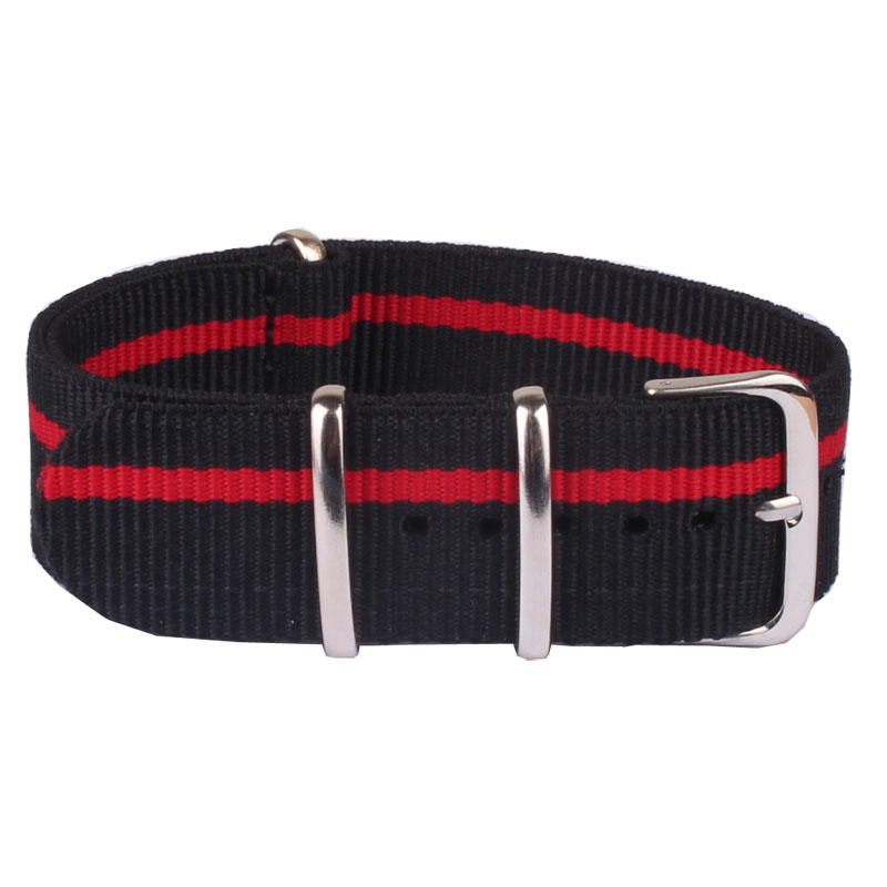 Hot Mans Women 22 mm Strong Black Red Casual Military Army nato fabric Nylon Watch watchband Woven Straps Bands Buckle belt 22mm все цены