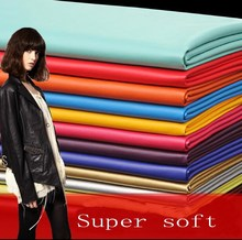 Cloth material ladies sofa fabricsLeather fabric slip waterproof fabric soft,PU fine handmade garment leather,P015