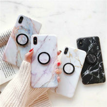 Soft Pastel Marble Cover Case Shockproof For Apple iPhone X 6s 8 6 7 Plus Phone Holder Fitted