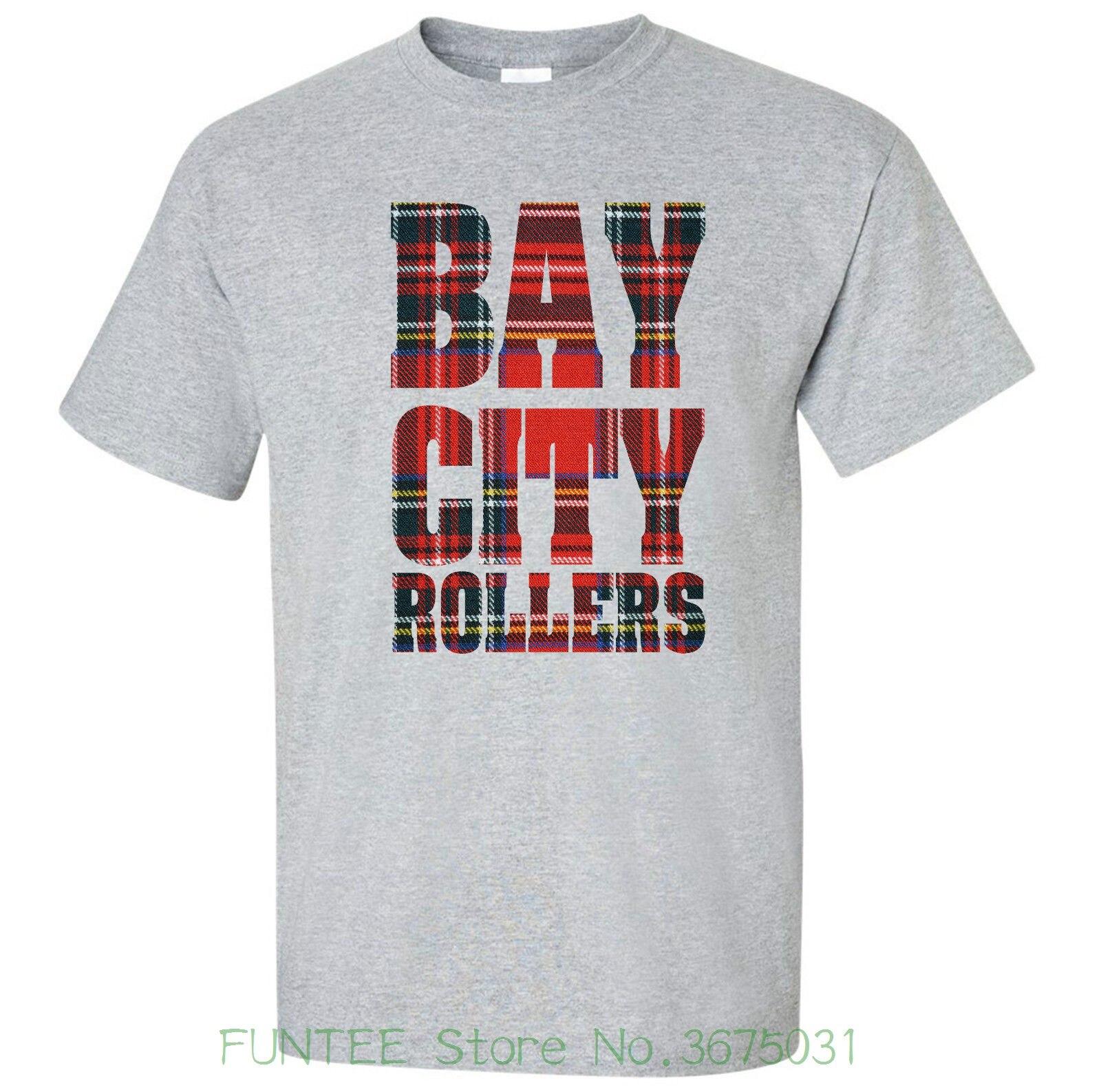 BAY CITY ROLLERS USA Logo  2019 men/'s t-shirt S-5XL BLACK