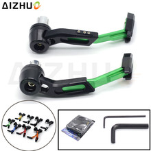 Motorcycle Hand Guard Brake Clutch Lever CNC Aluminum slider Protection For Kawasaki Ninja 250R 650 ZX6R ZX9R Z 750 Z1000
