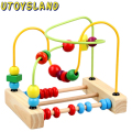 UTOYSLAND Wooden toys Counting Bead Abacus Wire Maze Roller Coaster Wooden Educational Toy for Baby Kids Chilrden