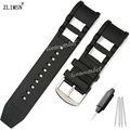 26mm Novo Preto Borracha de Silicone Assista Band Strap PARA InvictaWATCH