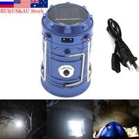 Уличный фонарь ZK50, светодиодный складной ручной фонарь с 6 светодиодами на солнечной энергии